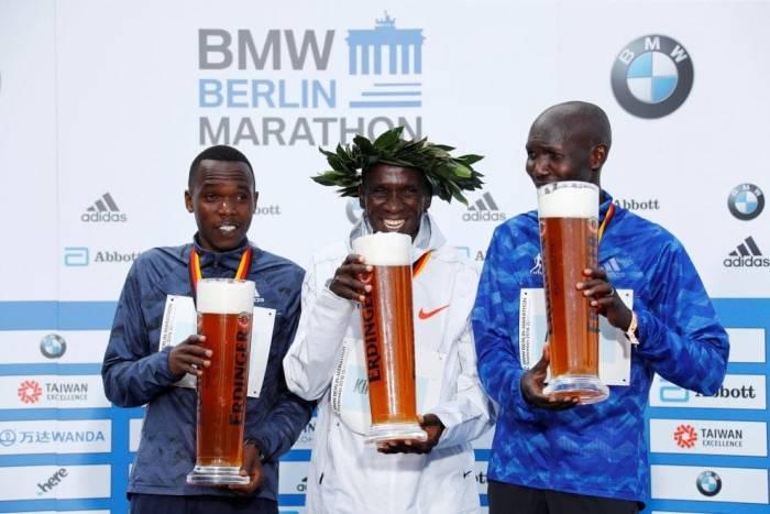 Podio Maratona di Berlino 2018